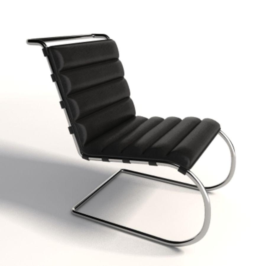 Mies Van Der Rohe MR Lounge Kolsuz Sandalye royalty-free 3d model - Preview no. 1