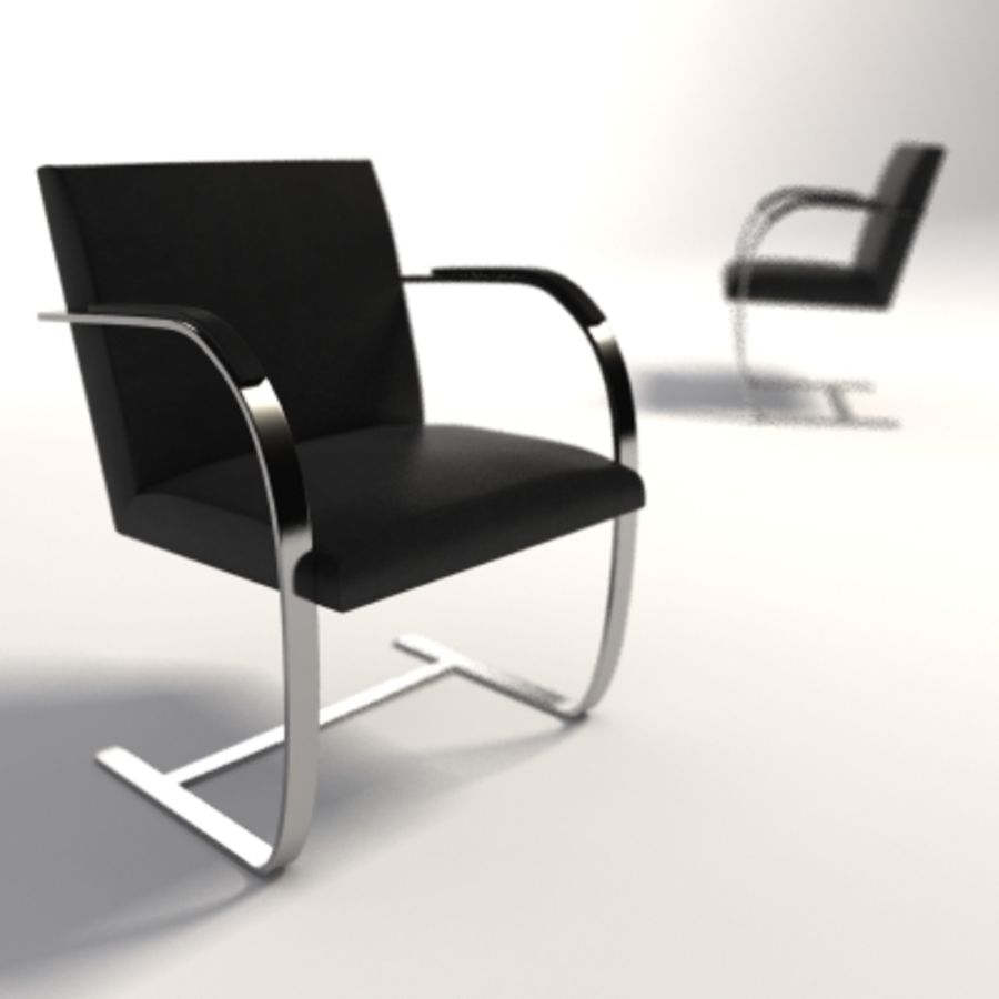 Mies Van Der Rohe Brno Flat Bar Chair Royalty Free 3d Model   Preview No