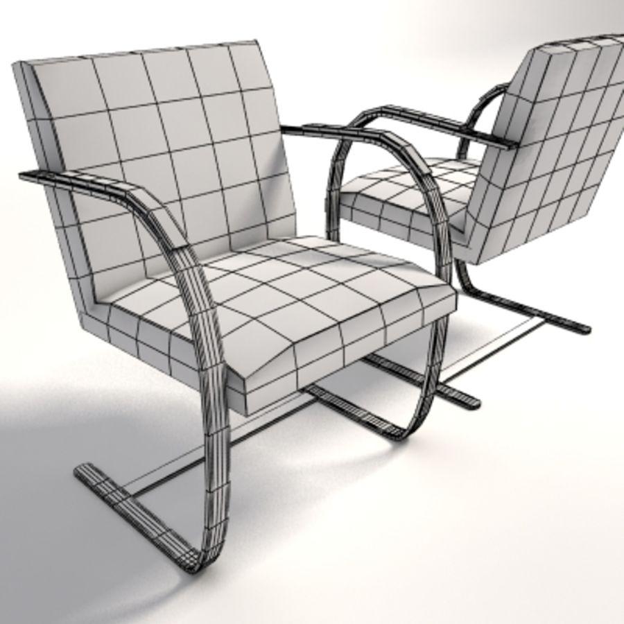 Chaise Brno Mies Van Der Rohe mies van der rohe brno flat bar chair 3d model $30 - .obj
