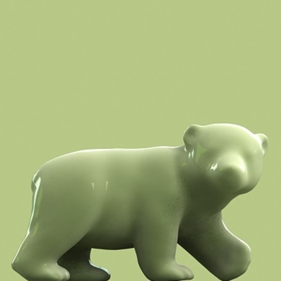 polar bear and cub royalty-free 3d model - Preview no. 5