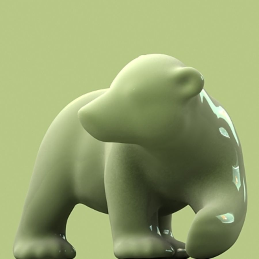 polar bear and cub royalty-free 3d model - Preview no. 6
