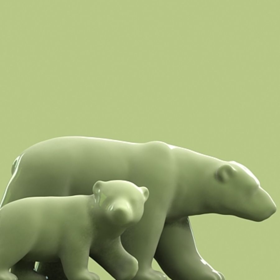 polar bear and cub royalty-free 3d model - Preview no. 4