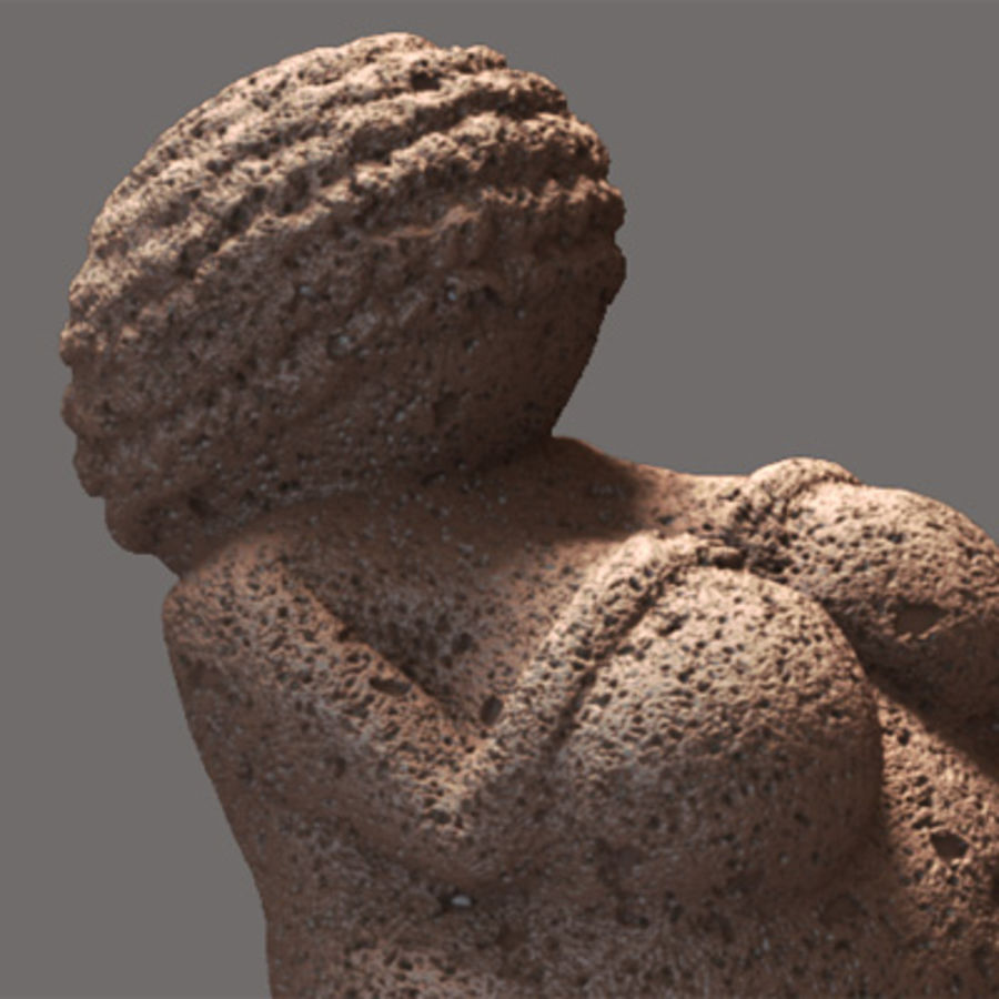 Venus de Willendorf royalty-free modelo 3d - Preview no. 2