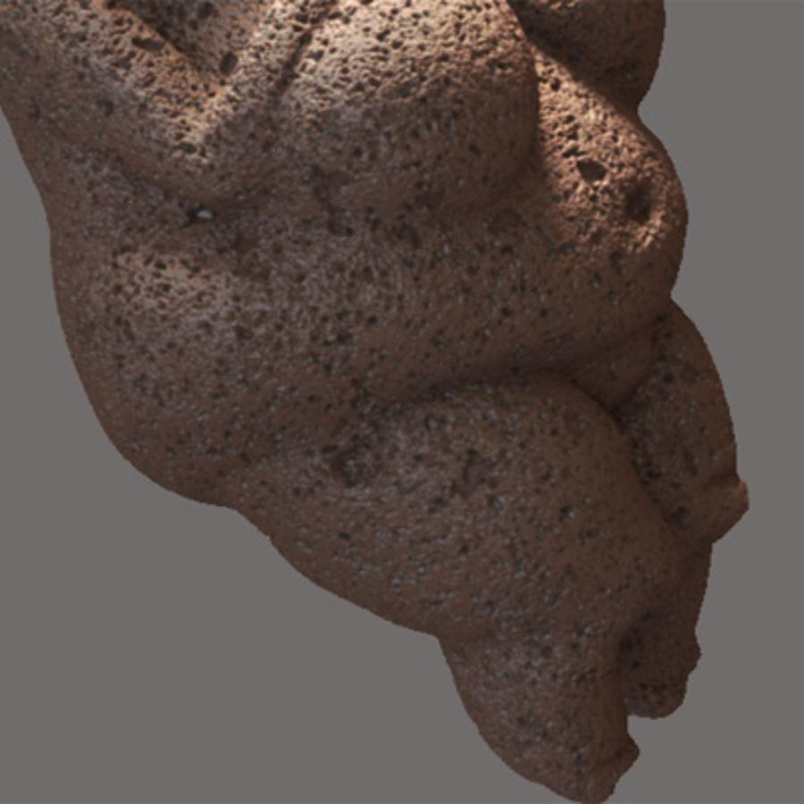 Venus de Willendorf royalty-free modelo 3d - Preview no. 3