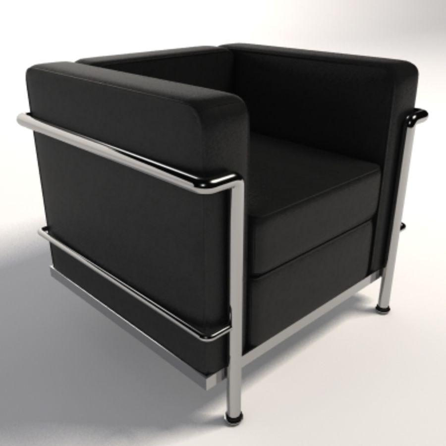 Poltrona Lc2 Prezzo.Poltrona Le Corbusier Lc2 Modello 3d 30 Xsi Ma Lwo