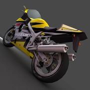铃木摩托车 3d model