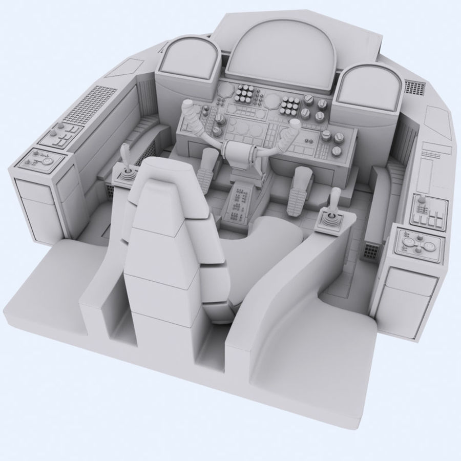 Cockpit A (old version) royalty-free 3d model - Preview no. 5