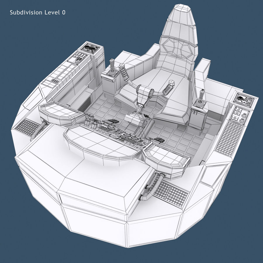 Cockpit A (old version) royalty-free 3d model - Preview no. 11