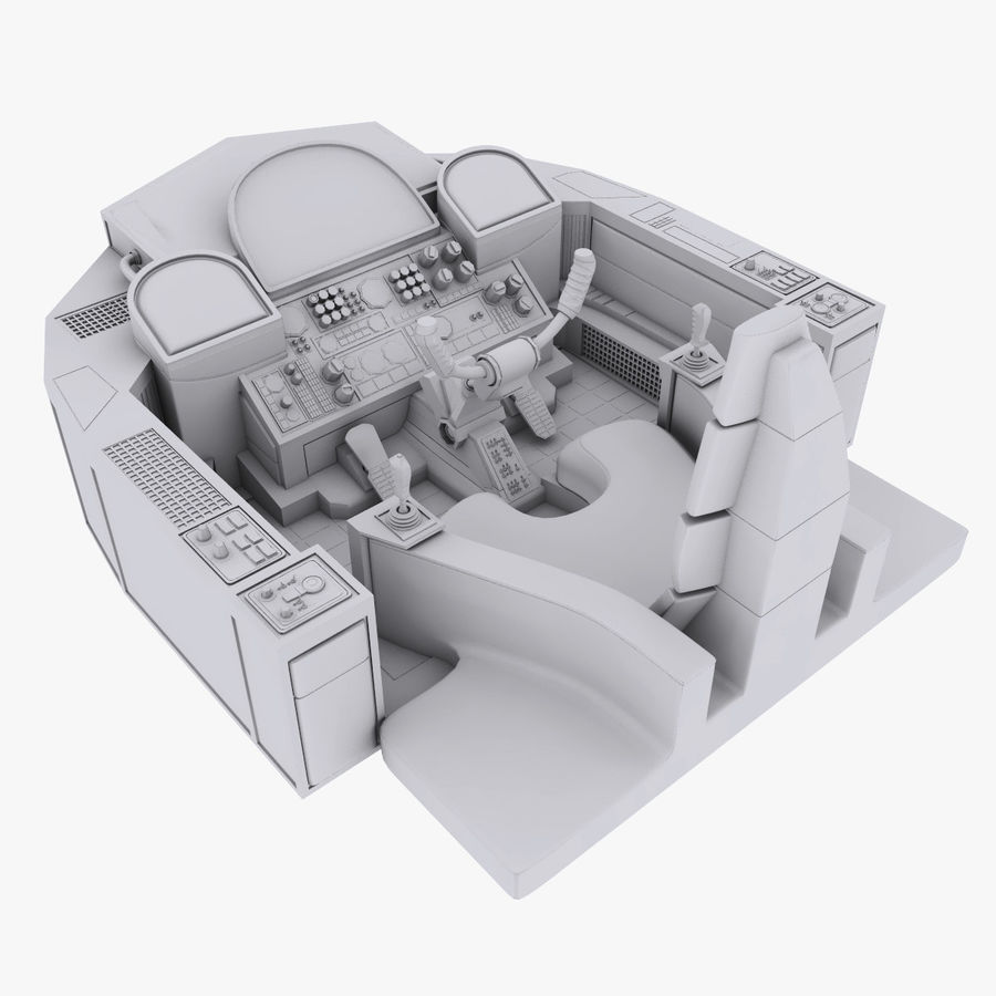 Cockpit A (old version) royalty-free 3d model - Preview no. 1