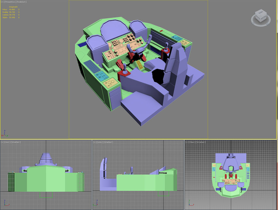 Cockpit A (old version) royalty-free 3d model - Preview no. 7