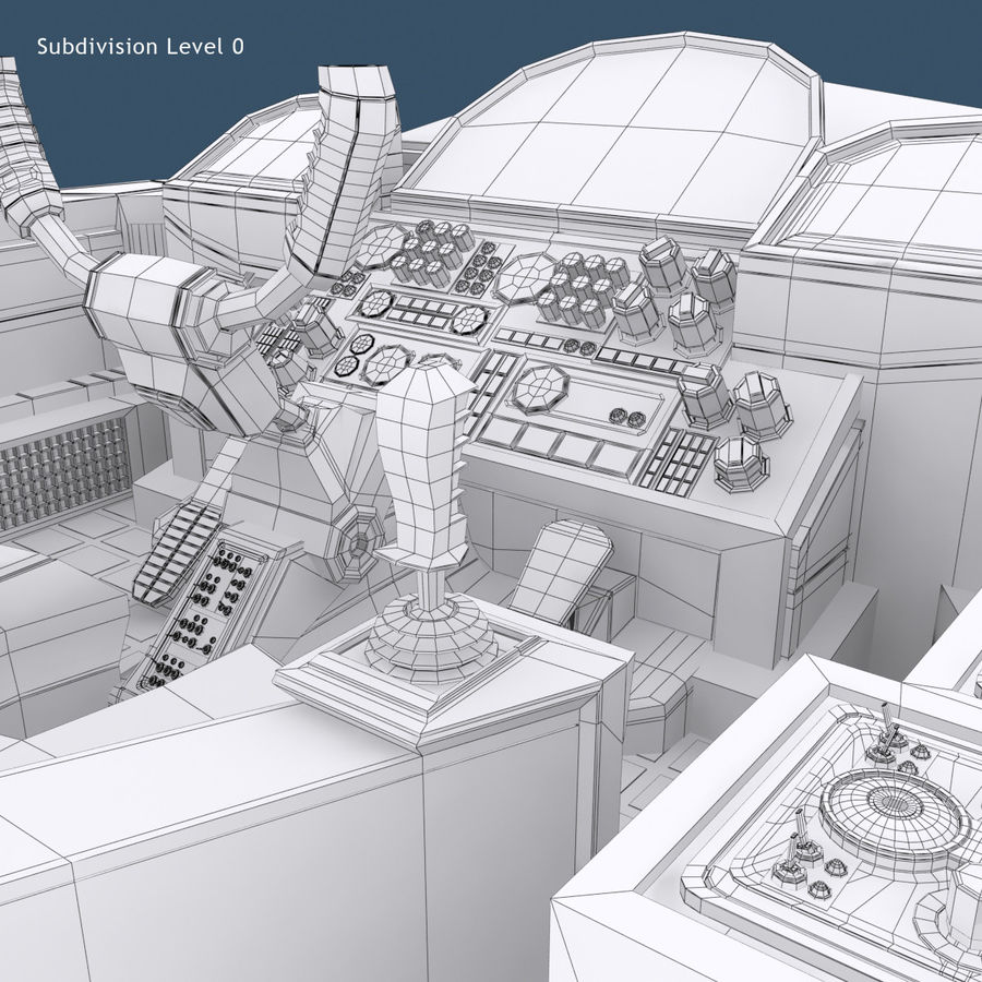 Cockpit A (old version) royalty-free 3d model - Preview no. 12