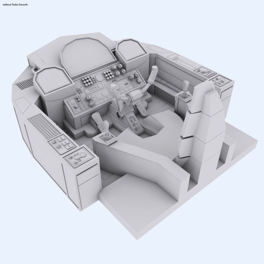Cockpit A (old version) royalty-free 3d model - Preview no. 3