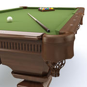 Pooltafel 8ft klassiek 3d model