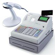Sam4s SAM-7040 Registratore di cassa e codice a barre dello scanner 3d model