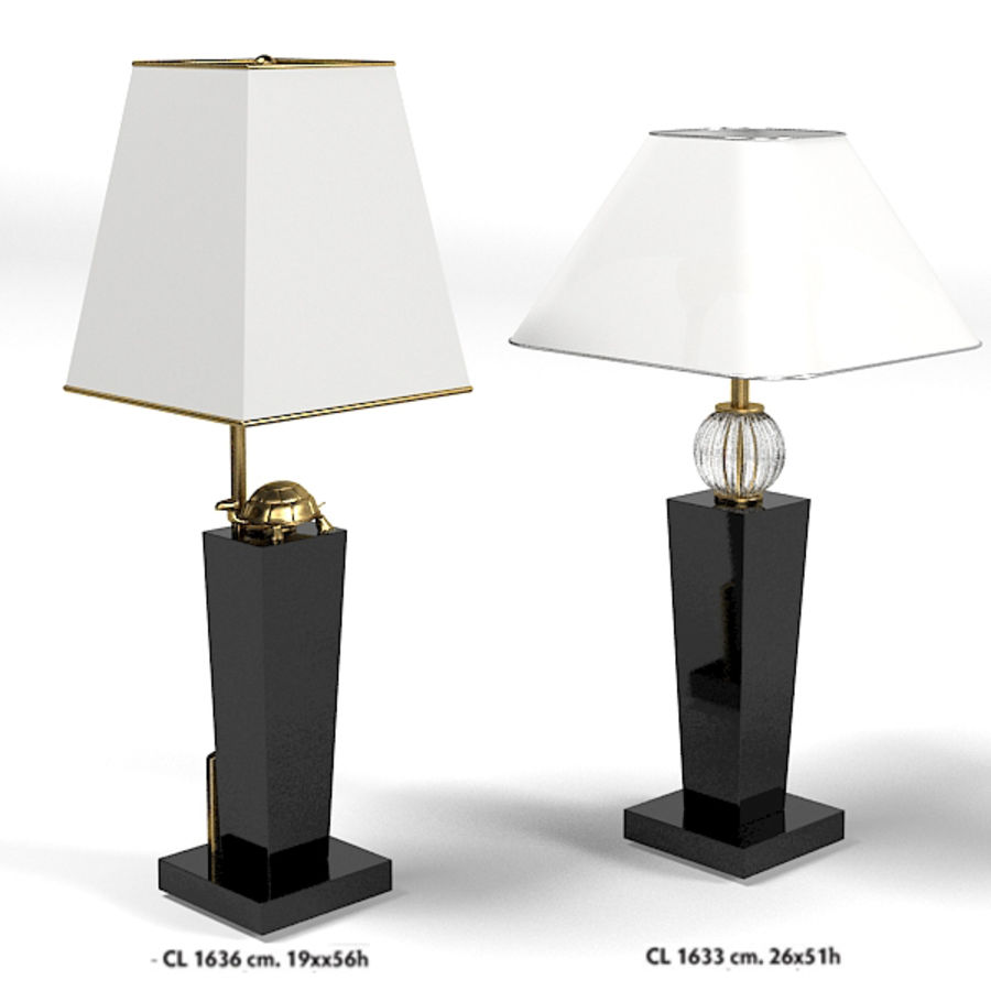 Sigma Elle Due Cl 1633 1635 Art Deco Table Lamp Modern Glass