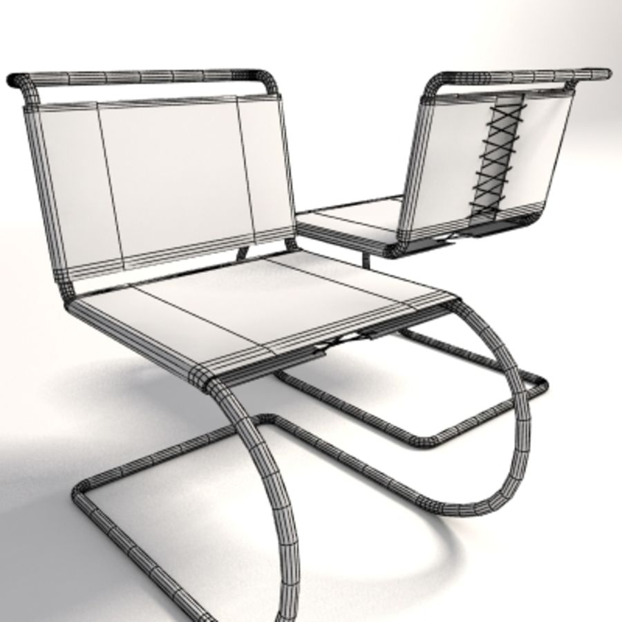 Mies Van Der Rohe MR Kolsuz Sandalye royalty-free 3d model - Preview no. 7