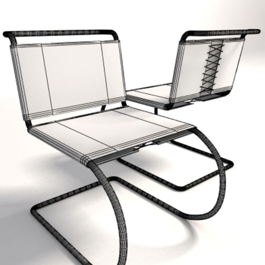 Mies Van Der Rohe MR Kolsuz Sandalye royalty-free 3d model - Preview no. 6