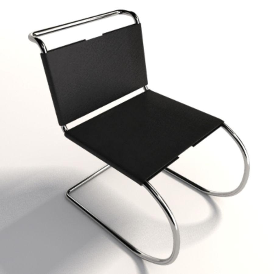 Mies Van Der Rohe MR Kolsuz Sandalye royalty-free 3d model - Preview no. 4