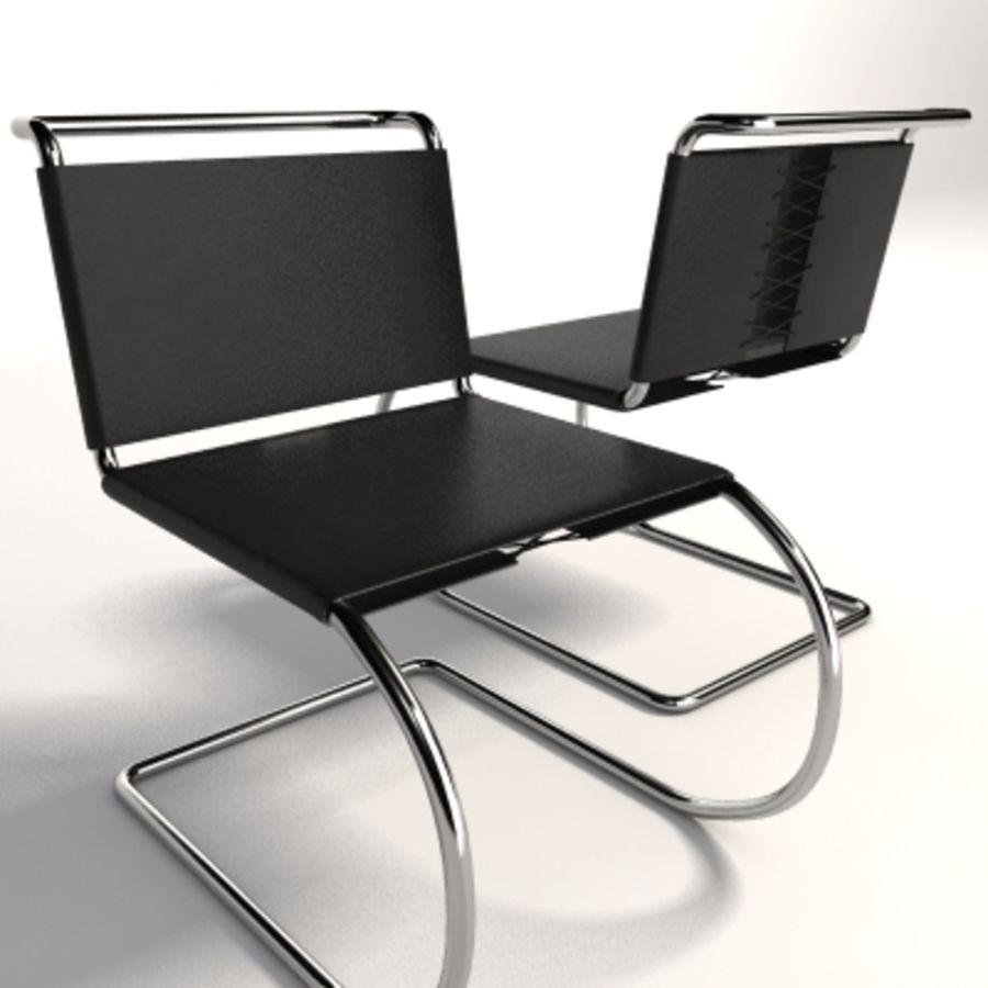 Mies Van Der Rohe MR Kolsuz Sandalye royalty-free 3d model - Preview no. 5