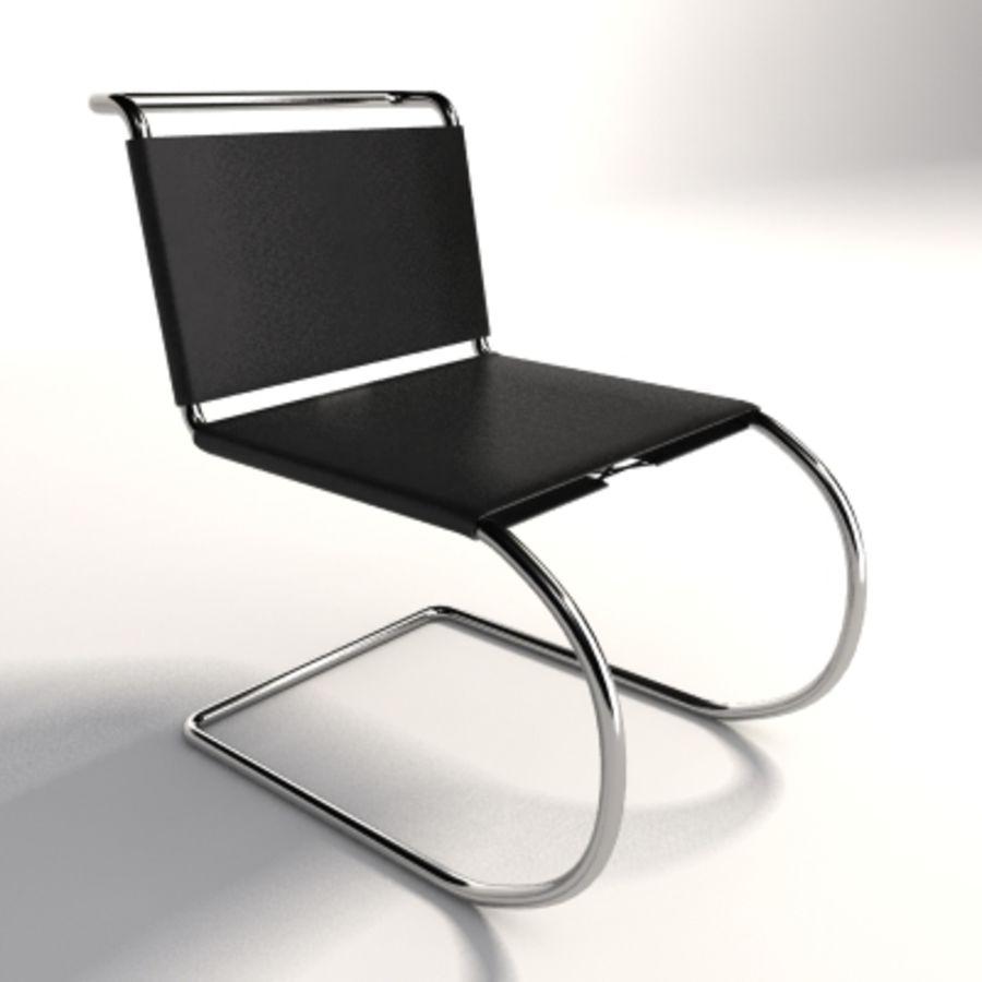 Mies Van Der Rohe MR Kolsuz Sandalye royalty-free 3d model - Preview no. 1