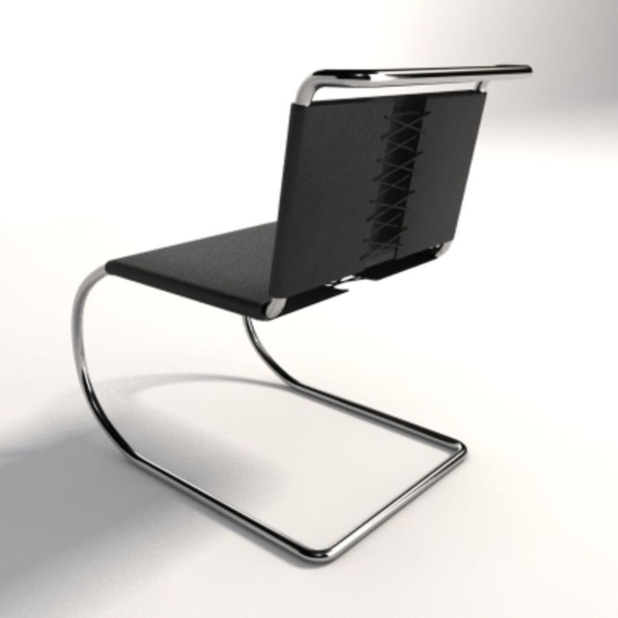 Mies Van Der Rohe MR Kolsuz Sandalye royalty-free 3d model - Preview no. 2