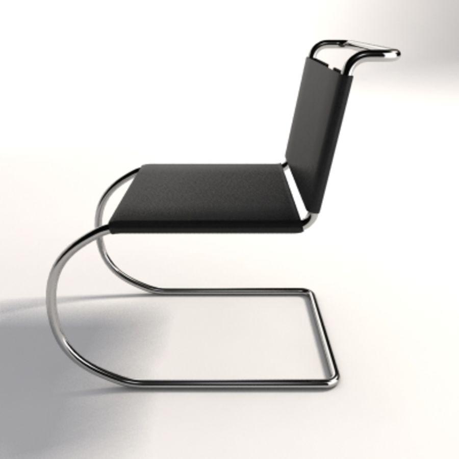 Mies Van Der Rohe MR Kolsuz Sandalye royalty-free 3d model - Preview no. 3