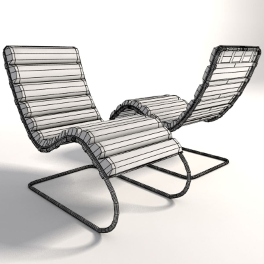 Mies Van Der Rohe MR Chaise 라운지 royalty-free 3d model - Preview no. 9