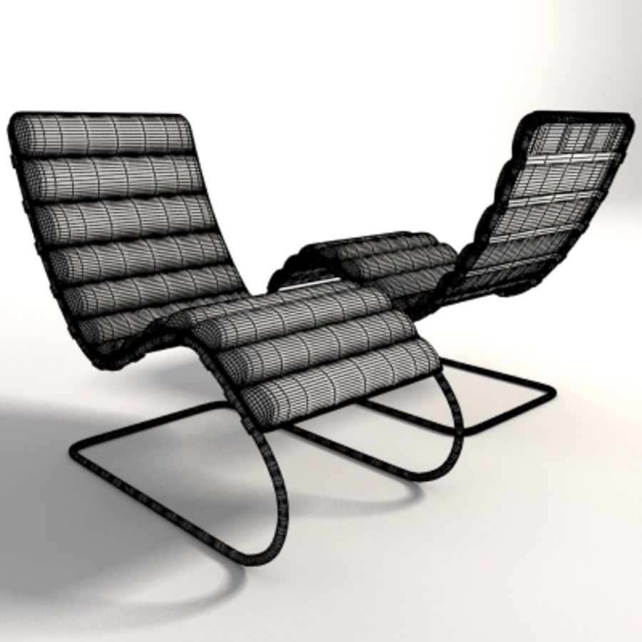 Mies Van Der Rohe MR Chaise 라운지 royalty-free 3d model - Preview no. 7