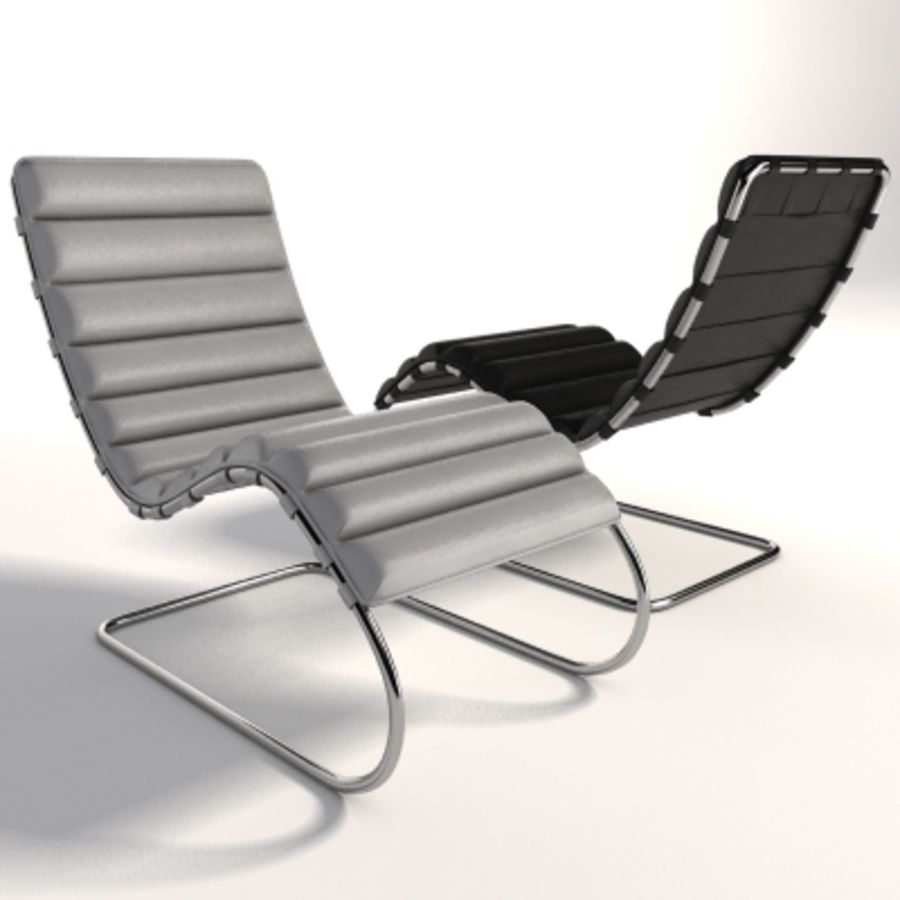 Mies Van Der Rohe MR Chaise 라운지 royalty-free 3d model - Preview no. 6