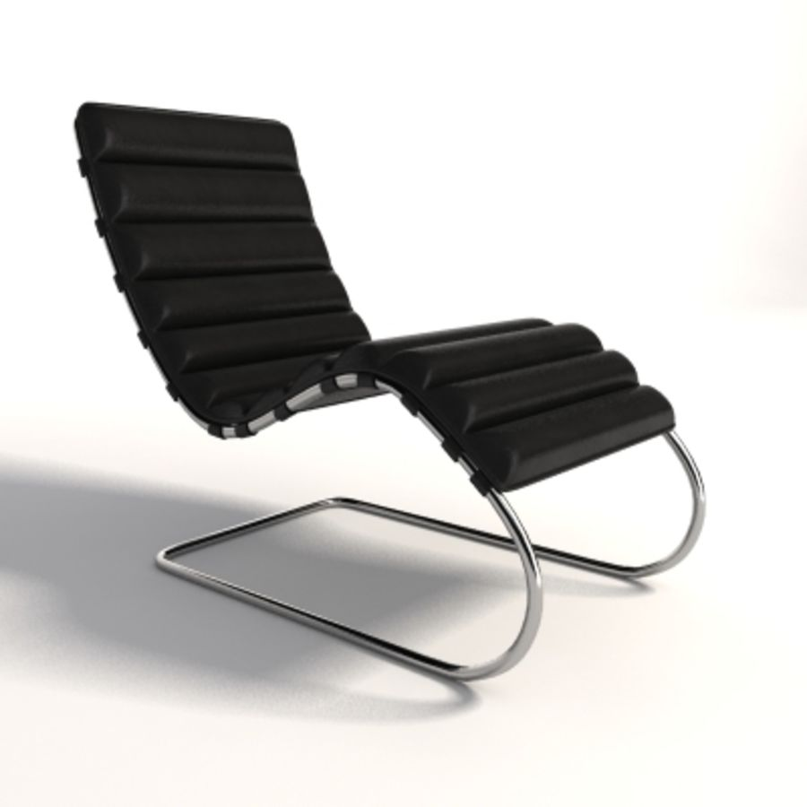 Mies Van Der Rohe MR Chaise 라운지 royalty-free 3d model - Preview no. 1