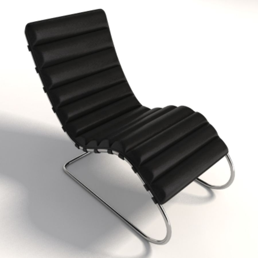 Mies Van Der Rohe MR Chaise 라운지 royalty-free 3d model - Preview no. 4