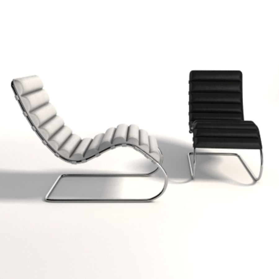 Mies Van Der Rohe MR Chaise 라운지 royalty-free 3d model - Preview no. 5