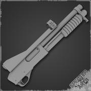870 Masterkey Shotgun 3d model