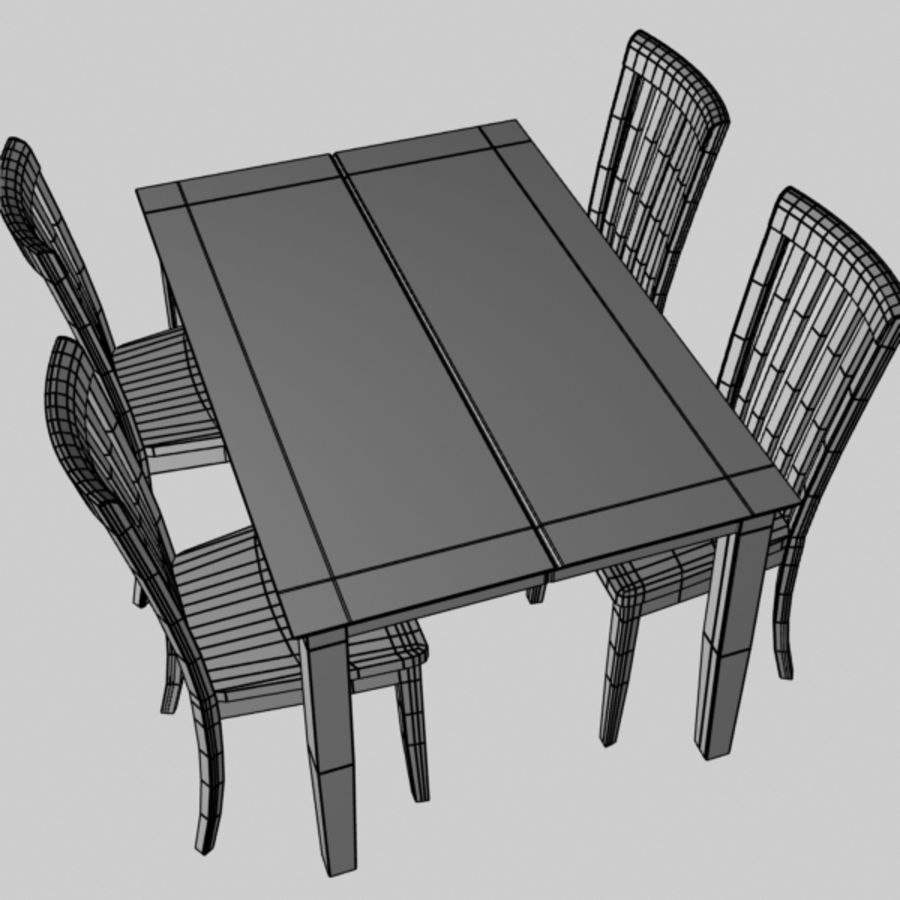 Set da pranzo royalty-free 3d model - Preview no. 6