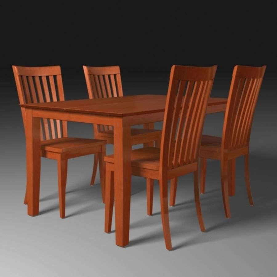 Set da pranzo royalty-free 3d model - Preview no. 3