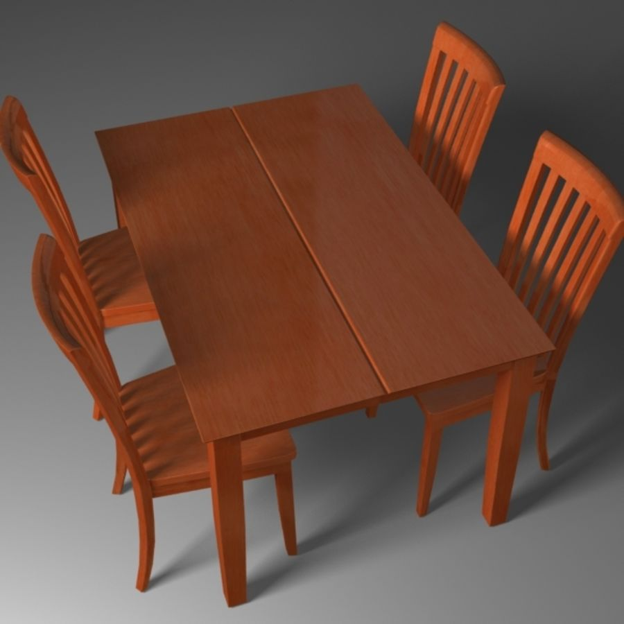Set da pranzo royalty-free 3d model - Preview no. 5