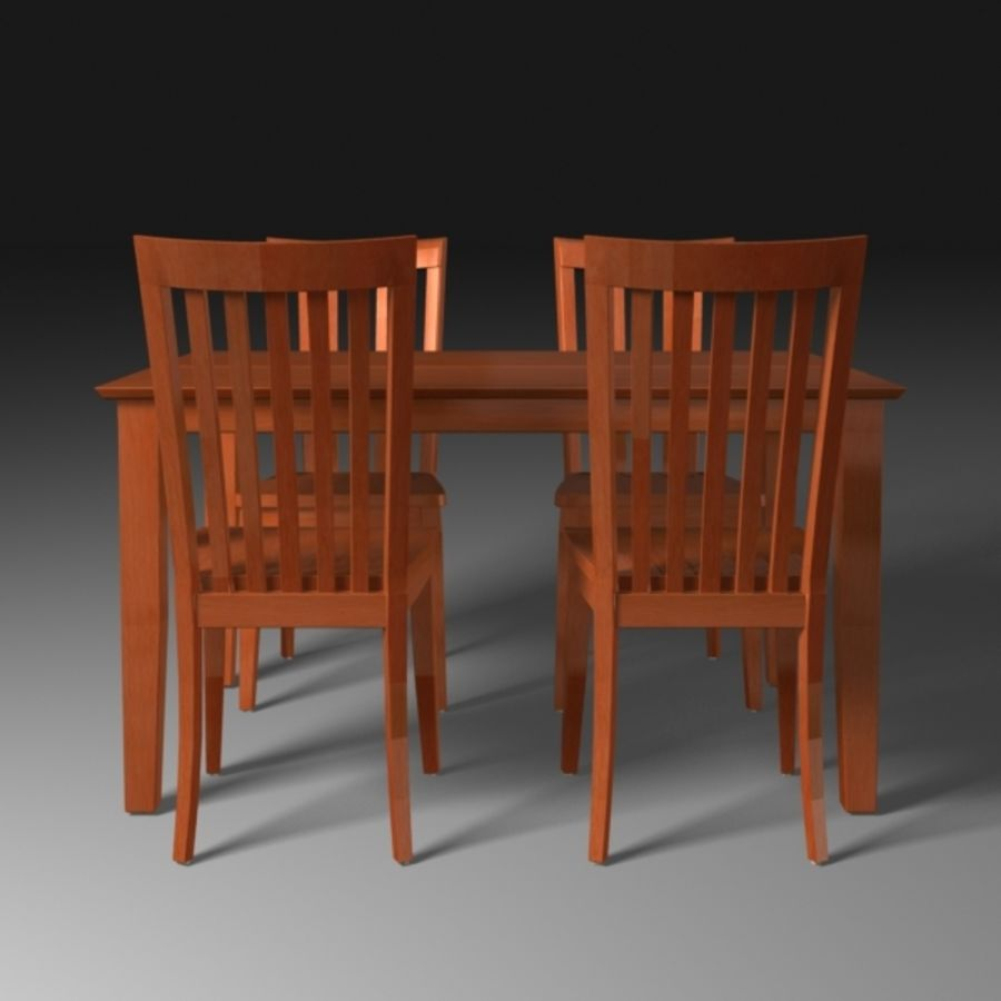 Set da pranzo royalty-free 3d model - Preview no. 2