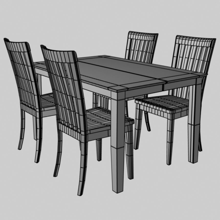Set da pranzo royalty-free 3d model - Preview no. 7