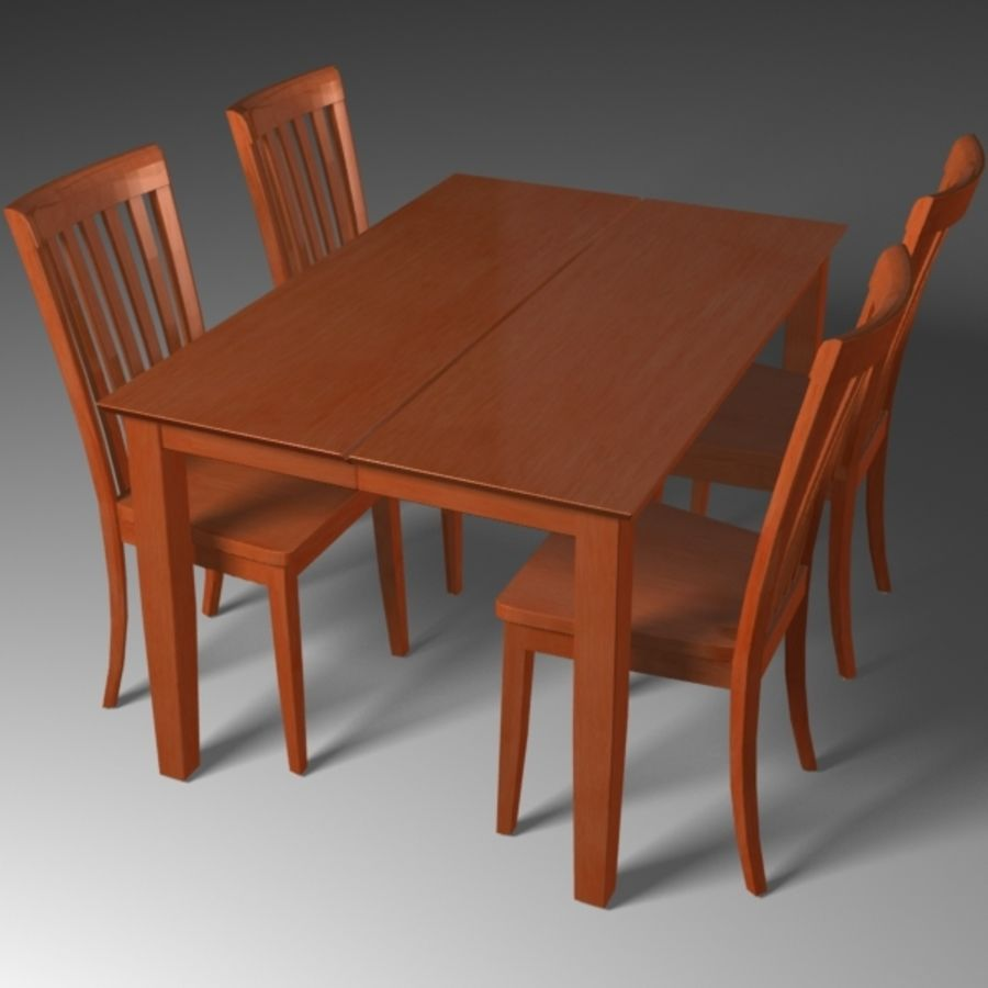 Set da pranzo royalty-free 3d model - Preview no. 4