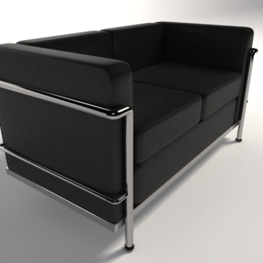 Divano due posti Le Corbusier LC2 Modello 3D $30 - .max .fbx ...