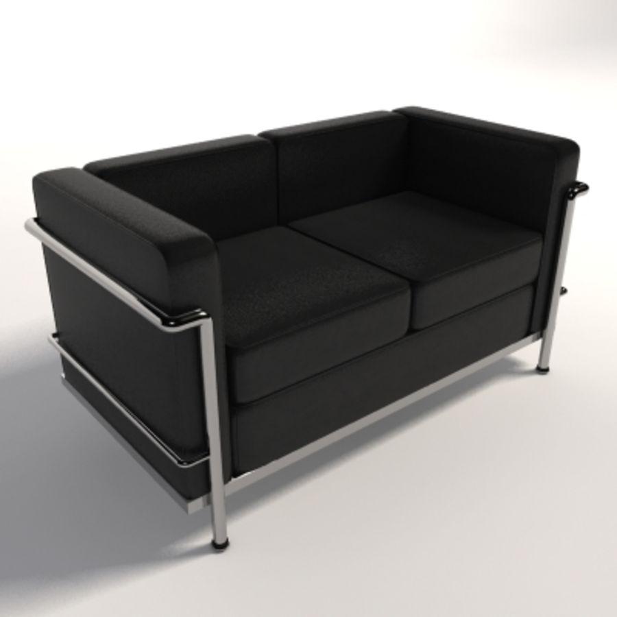 Divano due posti Le Corbusier LC2 Modello 3D $30 - .max .fbx .3ds ...