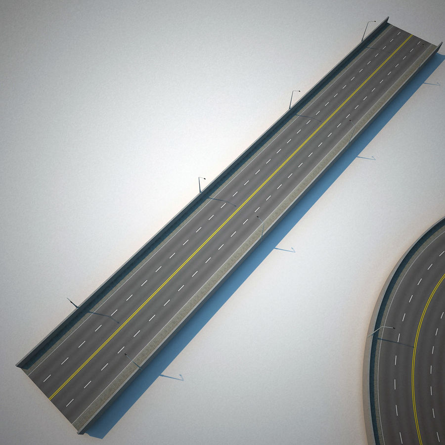 Road Collection royalty-free 3d model - Preview no. 17
