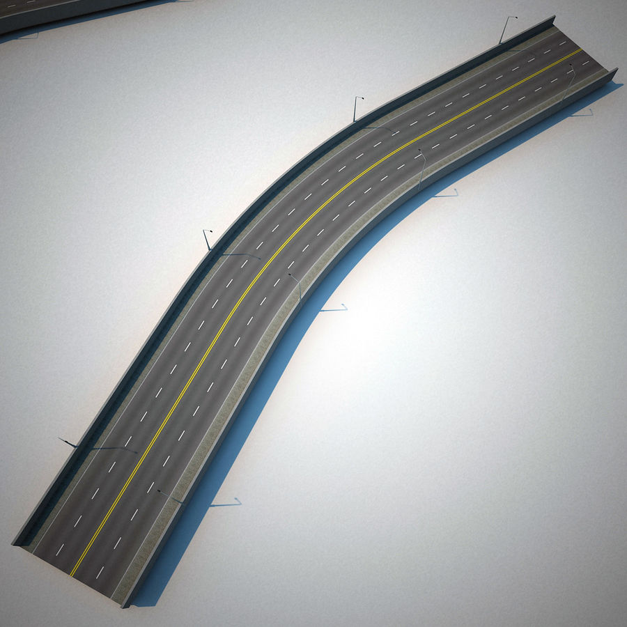 Road Collection royalty-free 3d model - Preview no. 12