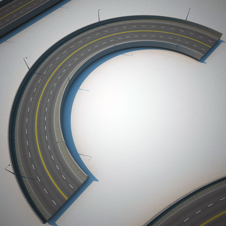 Road Collection royalty-free 3d model - Preview no. 16