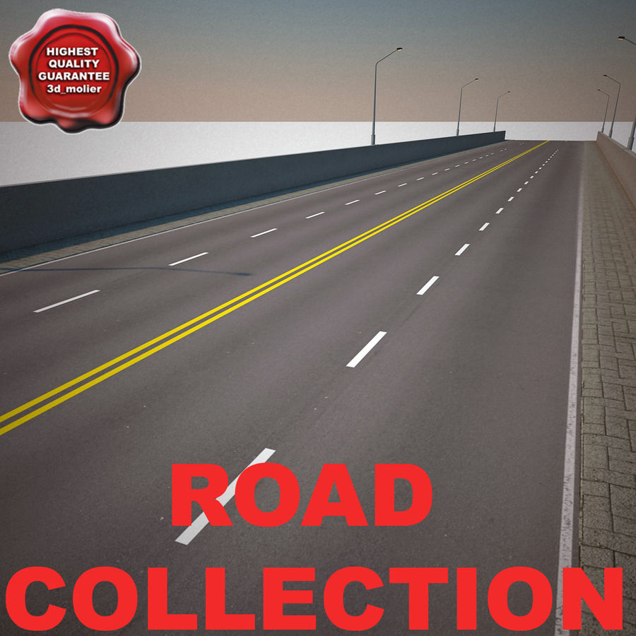 Road Collection royalty-free 3d model - Preview no. 1