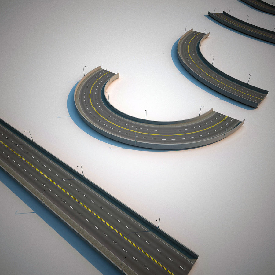 Road Collection royalty-free 3d model - Preview no. 9