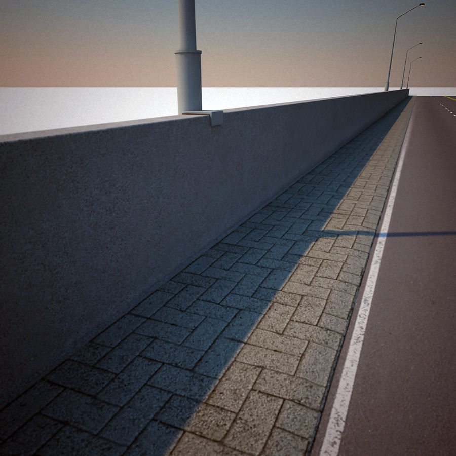 Road Collection royalty-free 3d model - Preview no. 5