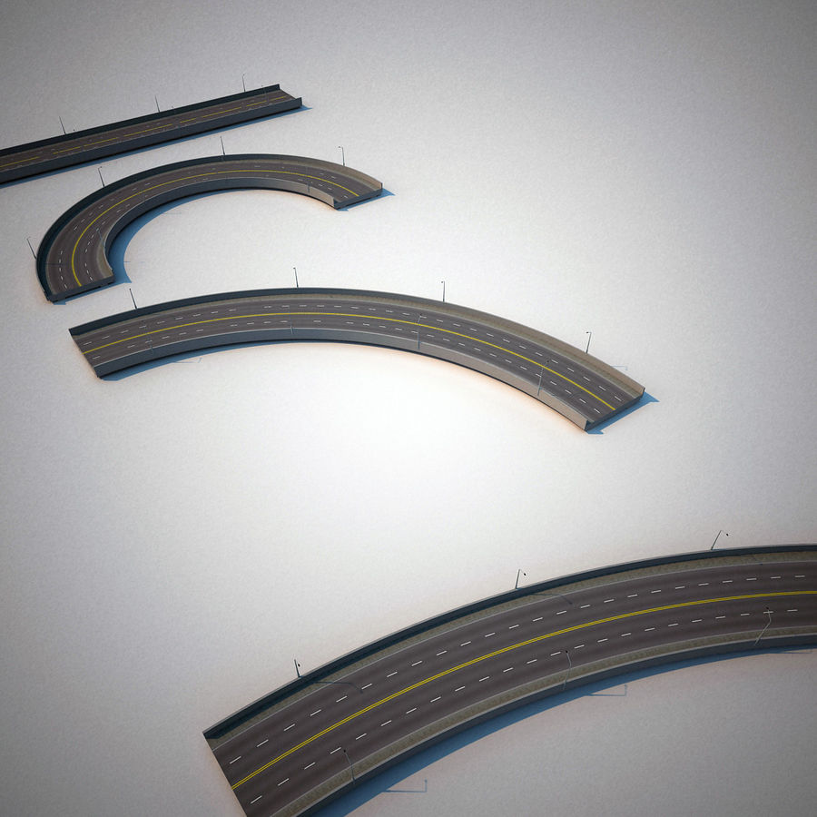 Road Collection royalty-free 3d model - Preview no. 10