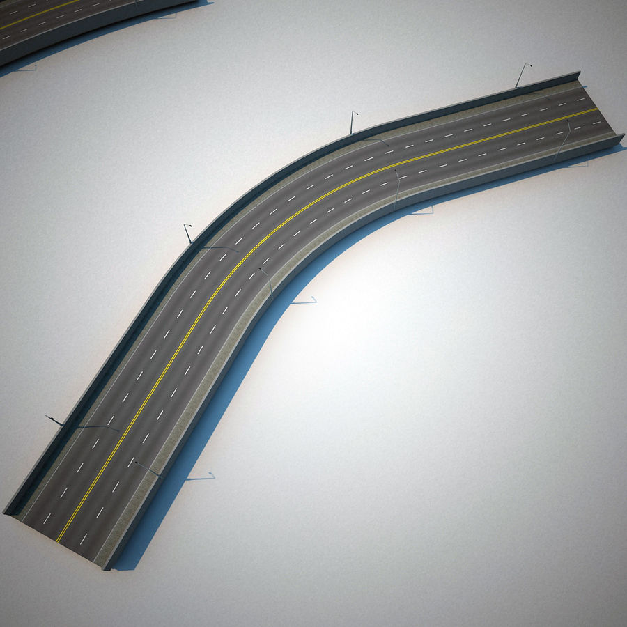Road Collection royalty-free 3d model - Preview no. 13
