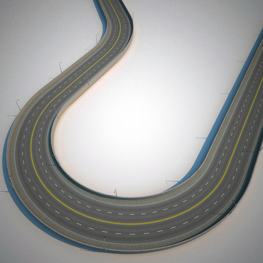 Road Collection royalty-free 3d model - Preview no. 7